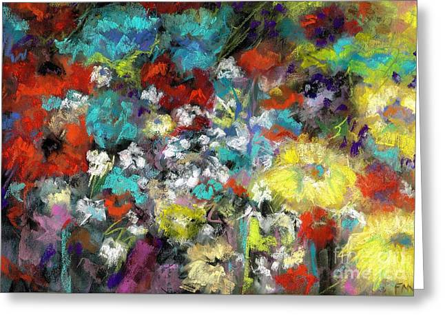 Wildflower Field Greeting Card by Frances Marino