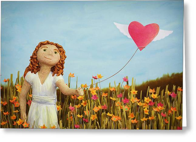 Wildflower Girl Greeting Card by Jennifer Montgomery