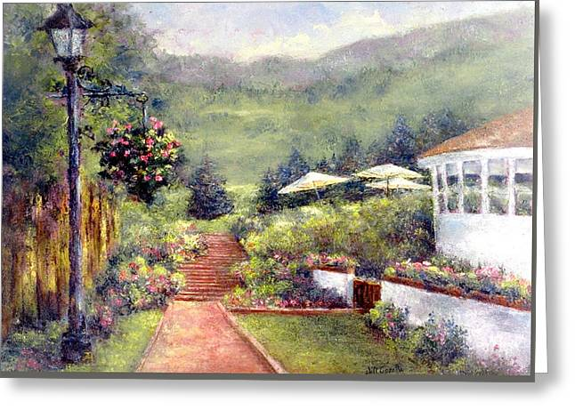 Wildflower Inn Greeting Card by Jill Musser