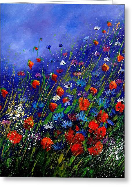 Wildflowers 78 Greeting Card by Pol Ledent