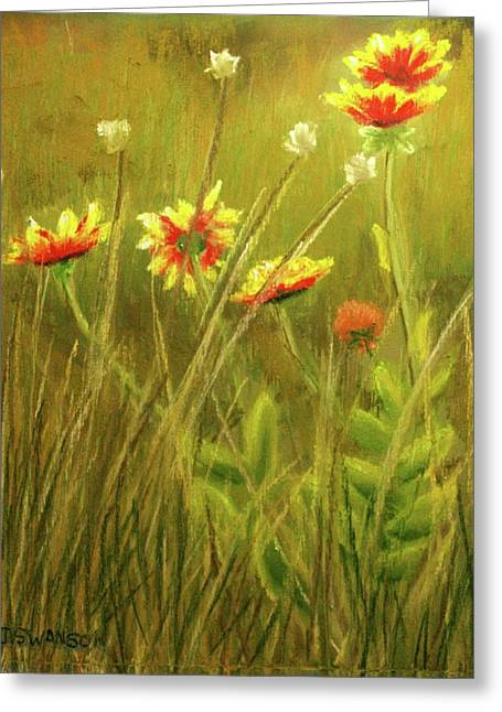 Wildflowers Greeting Card by Joan Swanson