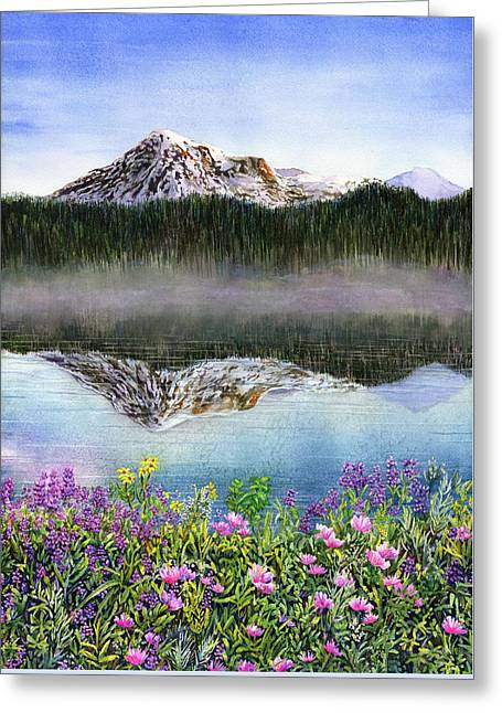 Wildflowers Greeting Card by Karen Wright