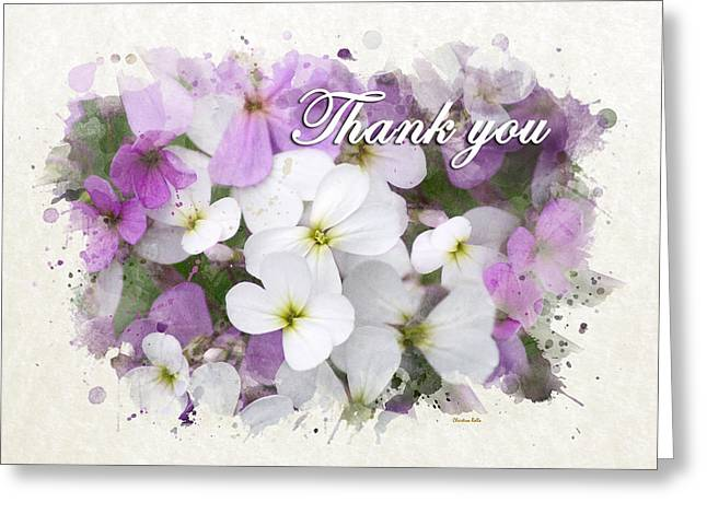 Wildflowers Watercolor Thank You Card Greeting Card