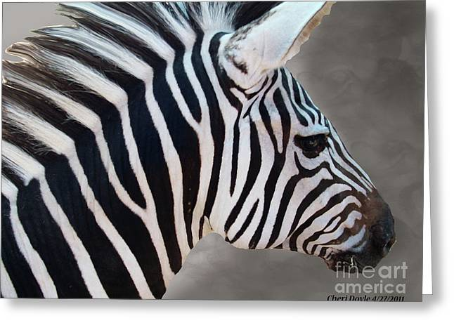 Wildside Greeting Card by Cheri Doyle