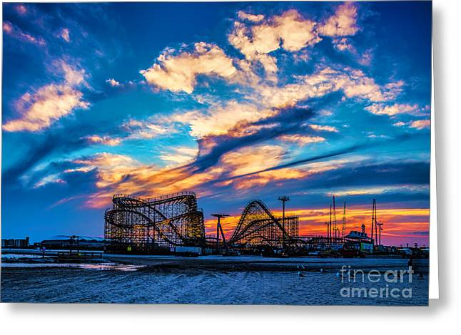 Wildwood Beach Sunset Greeting Card
