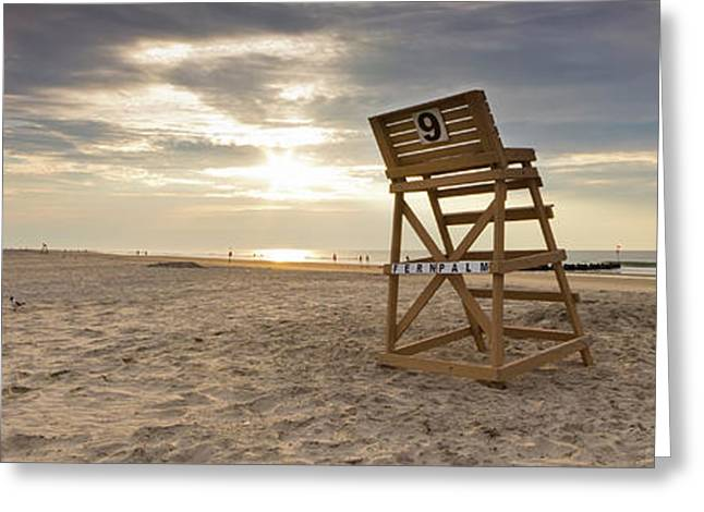 Chairs Greeting Cards - Wildwood Crest New Jersey Sunrise Greeting Card by Dustin K Ryan