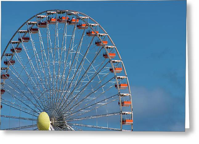 Greeting Card featuring the photograph Wildwood Ferris Wheel by Jennifer Ancker