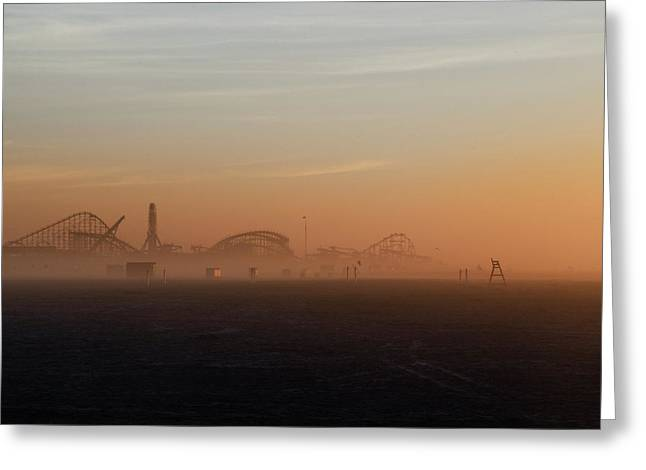 Wildwood New Jersey Just Before Dawn Greeting Card