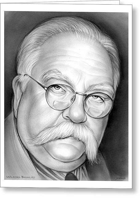 Wilford Brimley Greeting Card by Greg Joens
