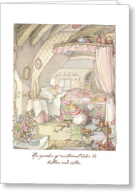 Wilfred's Birthday Morning Greeting Card by Brambly Hedge