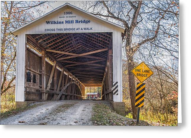 Wilkins Mill Covered Bridge Greeting Card