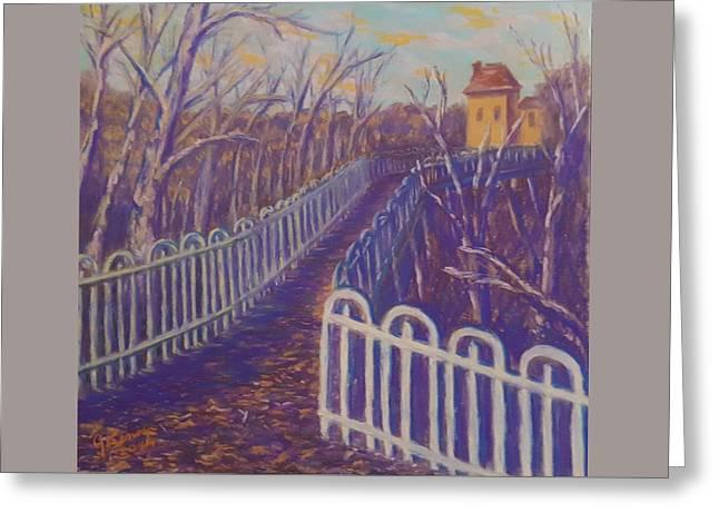 Wilksboro Bridge Northside Pittsburgh Greeting Card by Joann Renner