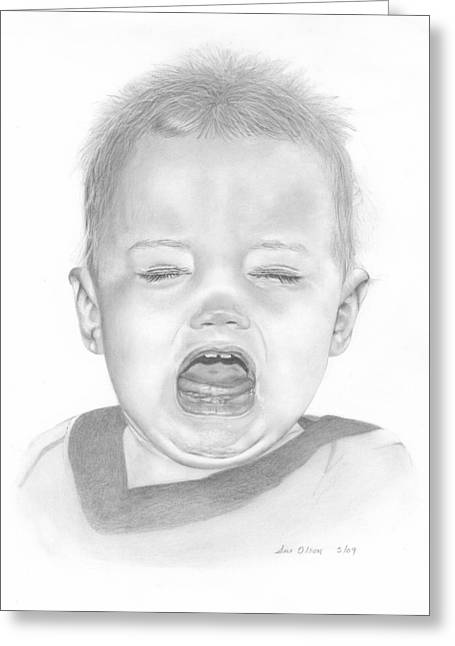 Will In Tears Greeting Card by Sue Olson