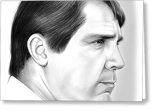 Will Muschamp 2 Greeting Card by Greg Joens