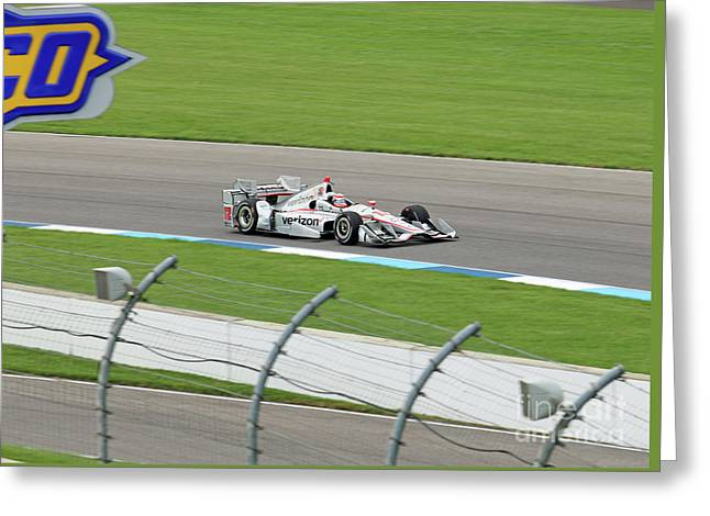 Will Power Indy Grand Prix Winner 2017 Greeting Card by Steve Gass