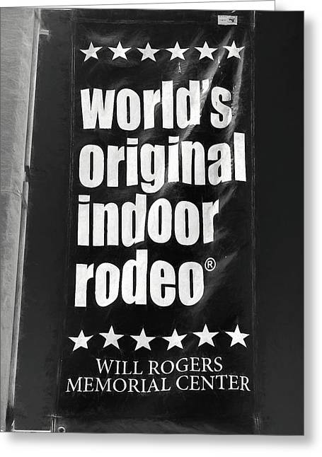 Will Rogers Rodeo Bw Greeting Card
