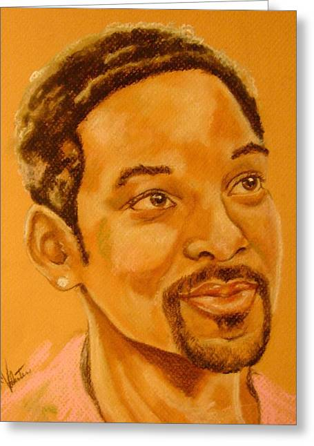 Will Smith Greeting Card by Sandra Valentini