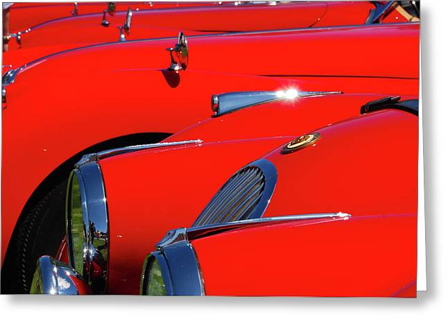 Greeting Card featuring the photograph Will The Owner Of The Red Car by John Schneider