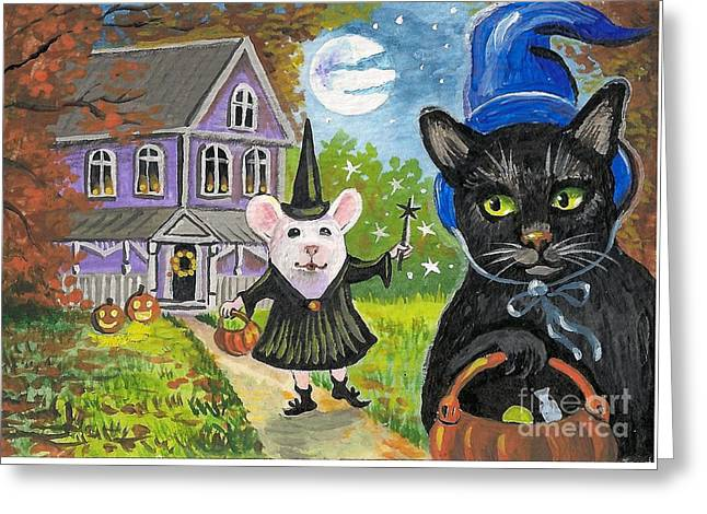 Will You Share Your Candy Greeting Card by Margaryta Yermolayeva