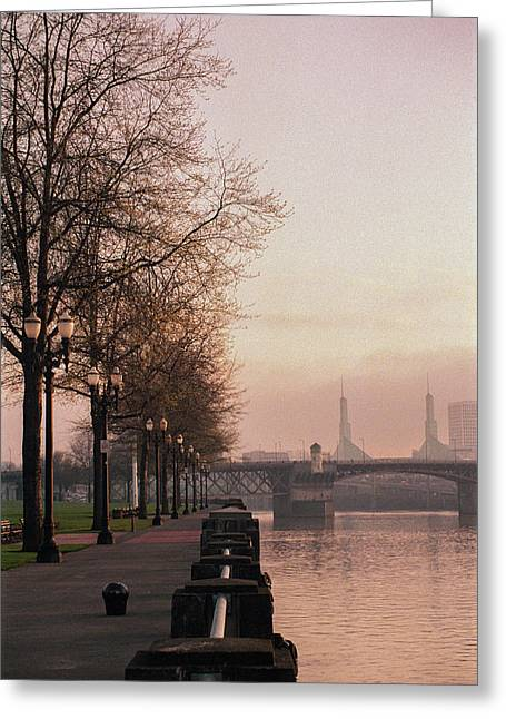Willamette Riverfront, Portland, Oregon Greeting Card