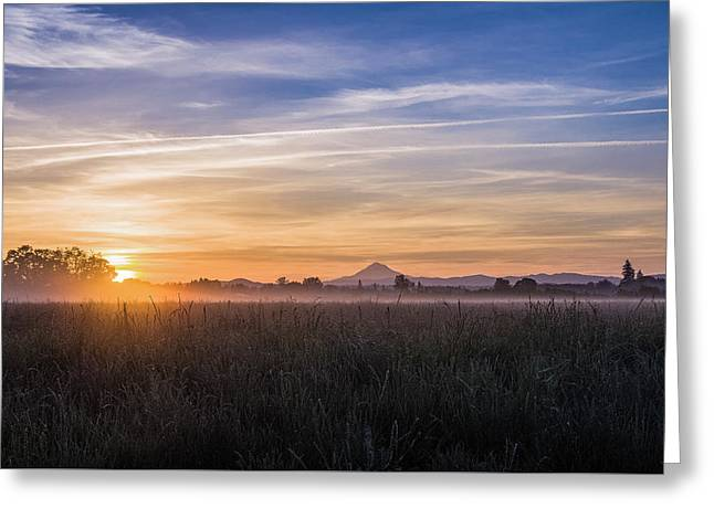 Willamette Valley Sunrise Greeting Card