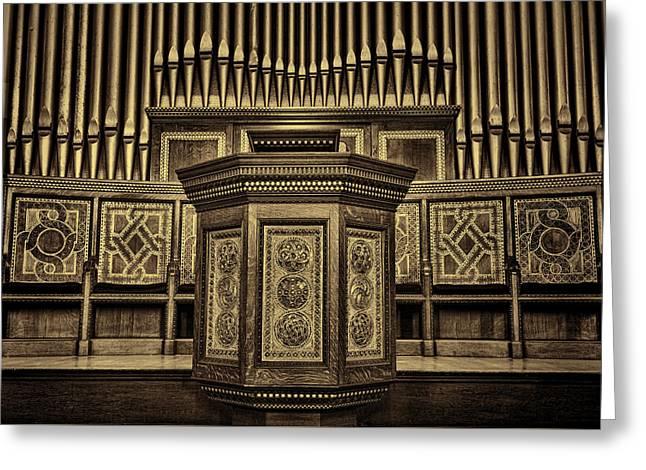 Willard Memorial Chapel Pulpit And Organ #2 Greeting Card