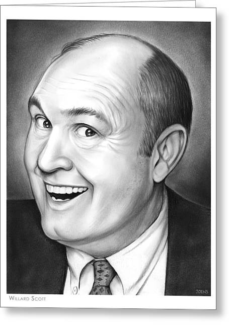 Willard Scott Greeting Card by Greg Joens