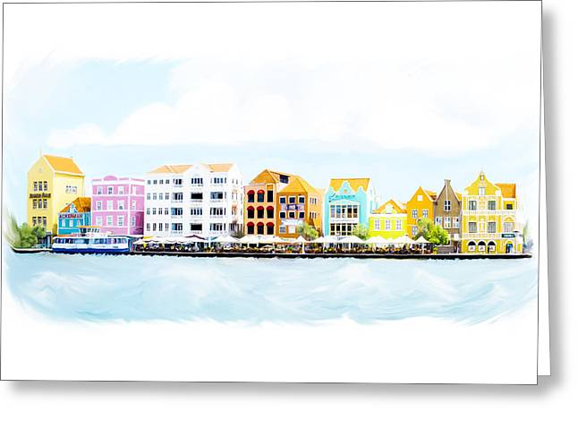 Willemstad Curacao Skyline Greeting Card