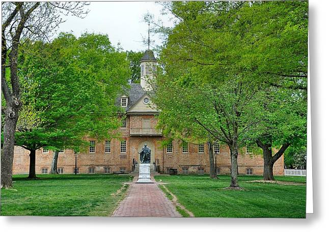 William And Mary Greeting Card by Todd Hostetter
