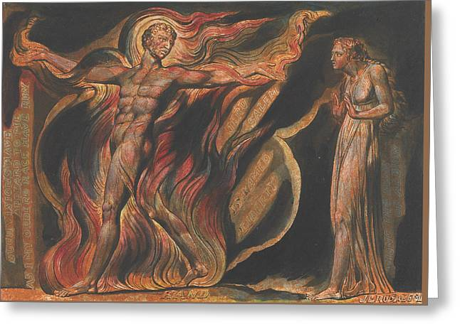 Jerusalem, Plate 26, Such Visions Have.... Greeting Card by William Blake