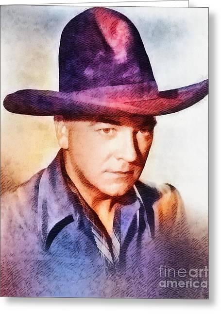William Boyd, Vintage Hollywood Actor Greeting Card