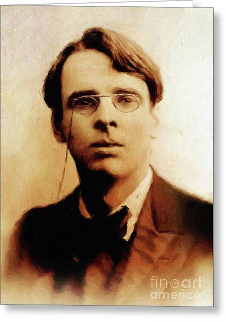 William Butler Yeats, Literary Legend By Mary Bassett Greeting Card