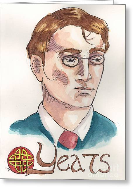 William Butler Yeats Greeting Card
