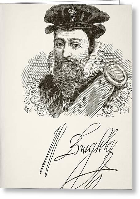 William Cecil, 1st Baron Burghley 1520 Greeting Card by Vintage Design Pics