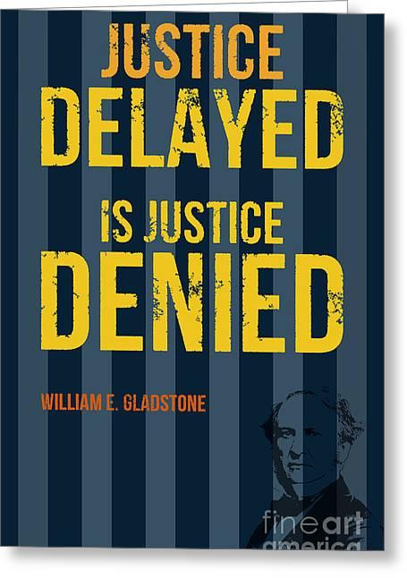 William E. Gladstone - Justice Greeting Card by Pablo Franchi