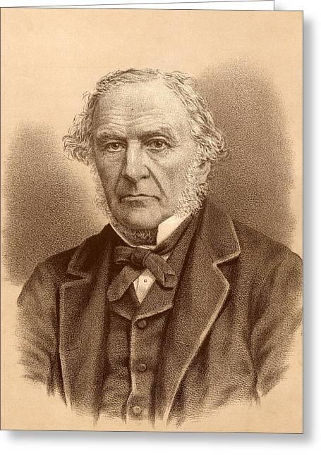 William Ewart Gladstone,  1809-1898 Greeting Card by Vintage Design Pics