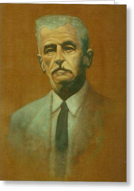 Noteworthy Greeting Cards - William Faulkner Greeting Card by Steven Sullivan
