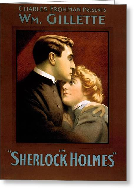 William Gillette In Sherlock Holme Greeting Card