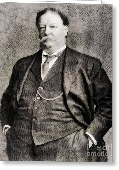 William Howard Taft, President Of The United States By John Springfield Greeting Card