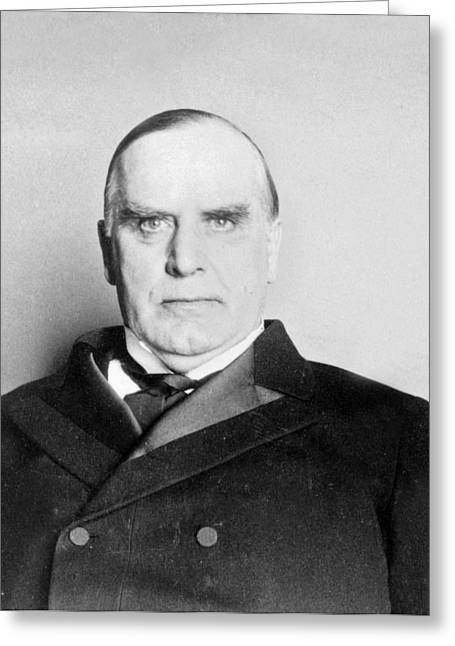 William Mckinley - President Of The United States Of America - C 1898 Greeting Card by International  Images