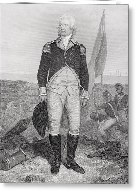 William Moultrie 1730 - 1805. American Greeting Card by Vintage Design Pics