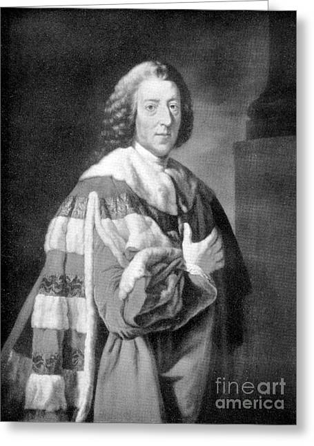 William Pitt, Prime Minister Of Britain Greeting Card by Wellcome Images