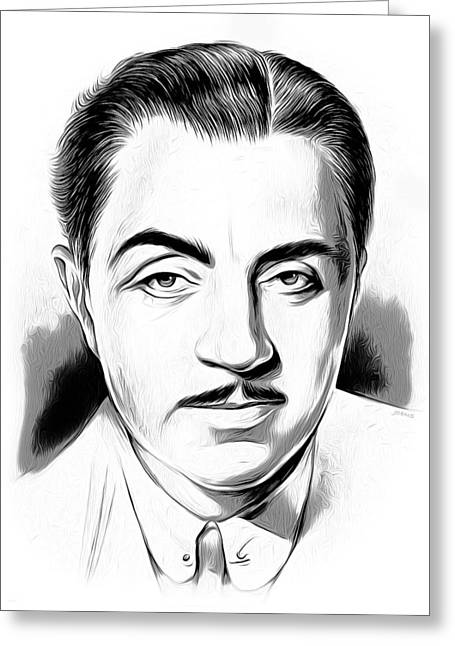 William Powell Greeting Card by Greg Joens