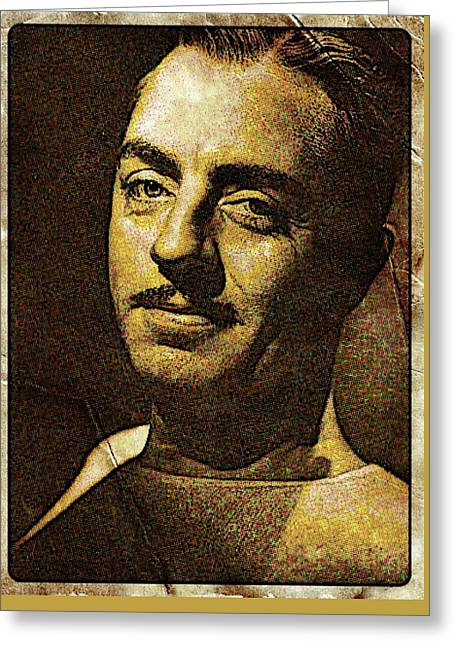 William Powell Hollywood Actor Greeting Card by Esoterica Art Agency