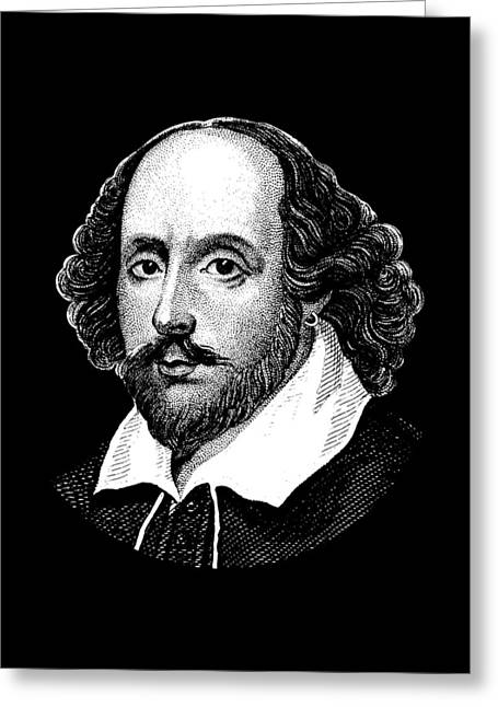 William Shakespeare - The Bard  Greeting Card