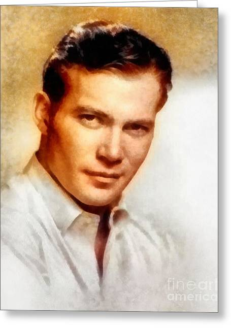 William Shatner, Actor Greeting Card by Frank Falcon