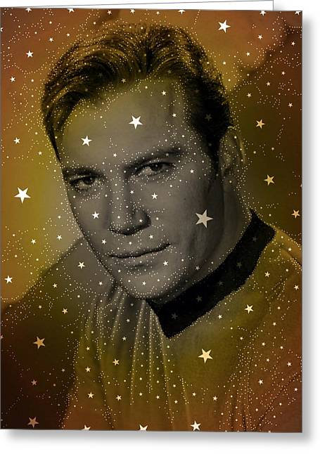William Shatner As Captain Kirk Greeting Card