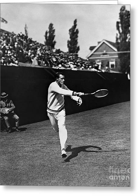 Tennis Match Greeting Cards - William Tatem Tilden, Jr Greeting Card by Granger