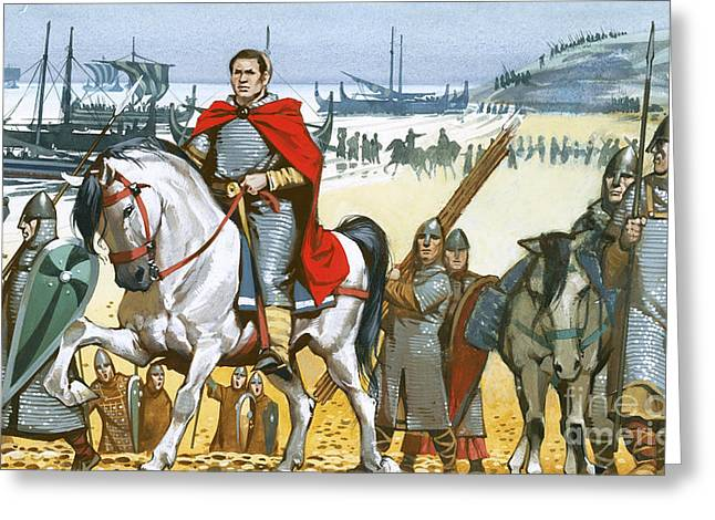 William The Conqueror Arriving In England  Greeting Card