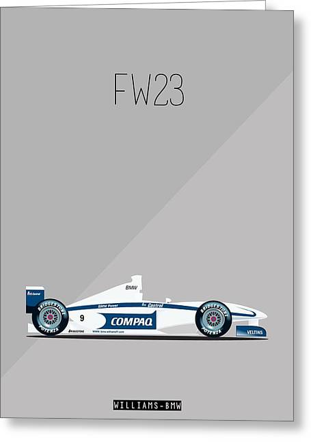 Williams Bmw Fw23 F1 Poster Greeting Card by Beautify My Walls